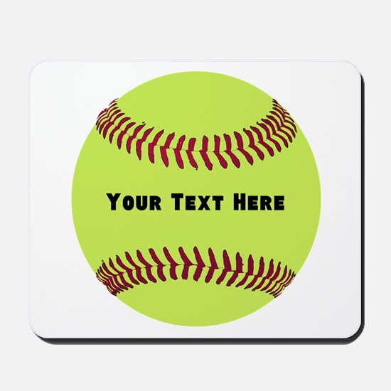 Customize Softball Name Mousepad