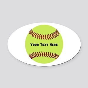 Customize Softball Name Oval Car Magnet