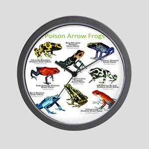 Poison Dart Frogs of the Amazon Wall Clock