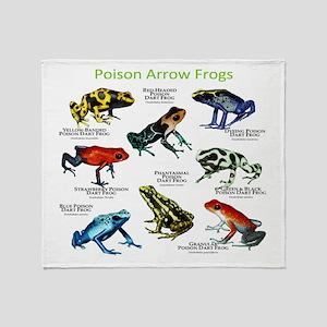 Poison Dart Frogs of the Amazon Throw Blanket