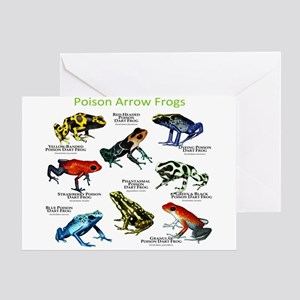 Poison Dart Frogs of the Amazon Greeting Card