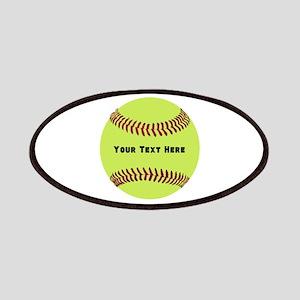Customize Softball Name Patch