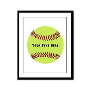 Customize Softball Name Framed Panel Print