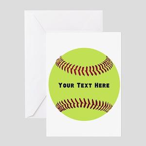 Customize Softball Name Greeting Card