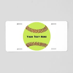 Customize Softball Name Aluminum License Plate