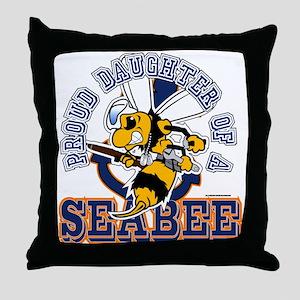 Navy Seabee 2 Throw Pillow