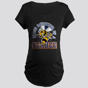 Navy Seabee 2 Maternity Dark T-Shirt