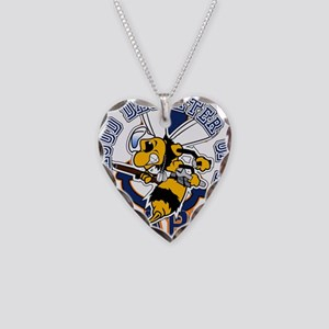 Navy Seabee 2 Necklace Heart Charm