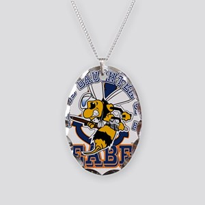 Navy Seabee 2 Necklace Oval Charm