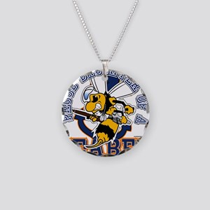 Navy Seabee 2 Necklace Circle Charm