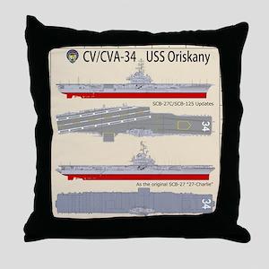 USS Oriskany CV/CVA-34 Throw Pillow