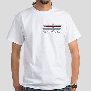 USS Oriskany CV/CVA-34 White T-Shirt