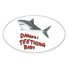 Shark - Danger! Teething Sticker (Oval)