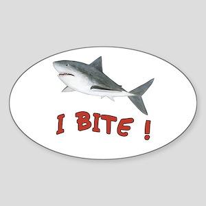 Shark - I Bite - Sticker (Oval)