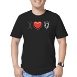 I love V8 Men's Fitted T-Shirt (dark)