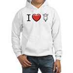 I love V8 Hooded Sweatshirt