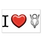 I love V8 Sticker (Rectangle 10 pk)