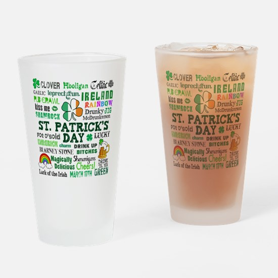 St. Patrick's Drinking Glass