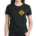 Falcon Crossing Sign Women's Dark T-Shirt