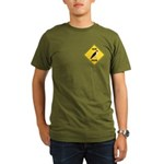 Falcon Crossing Sign Organic Men's T-Shirt (dark)