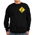 Falcon Crossing Sign Sweatshirt (dark)