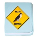 Falcon Crossing Sign baby blanket