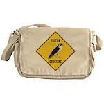 Falcon Crossing Sign Messenger Bag