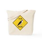 Falcon Crossing Sign Tote Bag