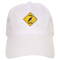 Falcon Crossing Sign Baseball Cap