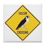 Falcon Crossing Sign Tile Coaster