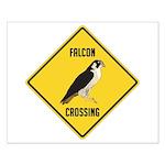 Falcon Crossing Sign Small Poster