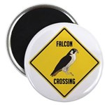 Falcon Crossing Sign Magnet