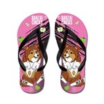 Kawaii Ripley the Sheltie Dog Flip Flops