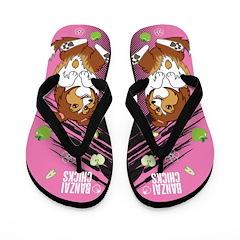 Kawaii Ripley the Sheltie Dog Flip Flops