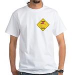 Flamingo Crossing Sign White T-Shirt
