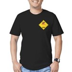 Flamingo Crossing Sign Men's Fitted T-Shirt (dark)