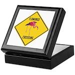 Flamingo Crossing Sign Keepsake Box