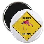 Flamingo Crossing Sign Magnet