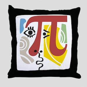 Pi Symbol Pi-Casso Throw Pillow