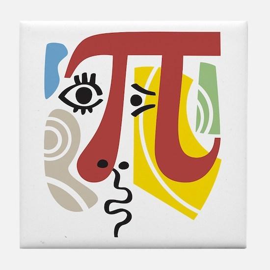 Pi Symbol Pi-casso Tile Coaster