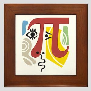 Pi Symbol Pi-casso Framed Tile