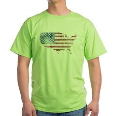 Vintage USA Flag / Map T-Shirt