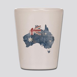 Vintage Australia Flag / Map Shot Glass