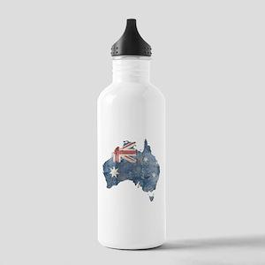 Vintage Australia Flag / Map Stainless Water Bottl