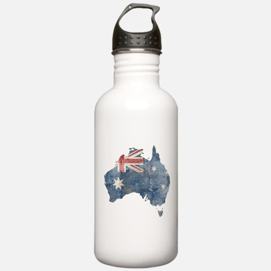 Vintage Australia Flag / Map Water Bottle