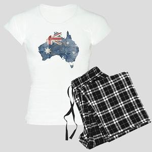 Vintage Australia Flag / Map Women's Light Pajamas