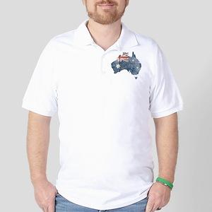 Vintage Australia Flag / Map Golf Shirt