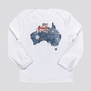 Vintage Australia Flag / Map Long Sleeve Infant T-
