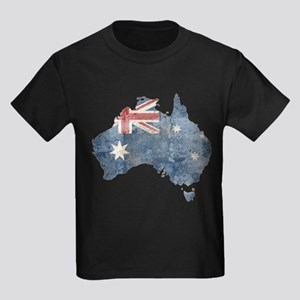 Vintage Australia Flag / Map Kids Dark T-Shirt