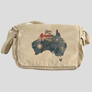 Vintage Australia Flag / Map Messenger Bag